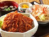 ソースかつ丼+ミニそば